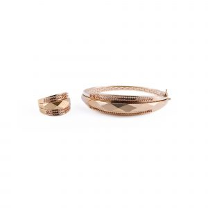 انگشتر و دستبند کریستال مدل RN-BR-KS30-1